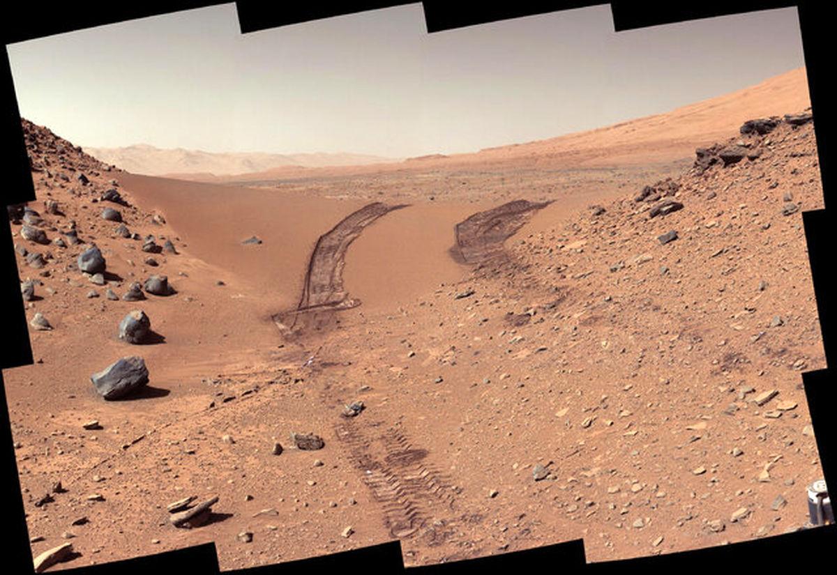 مریخ نورد کنجکاور در حال کوهنوردی + عکس