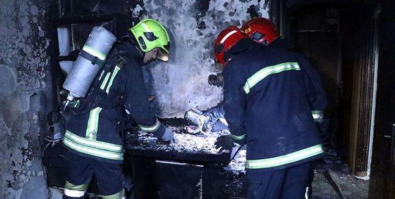 کودک بازیگوش منزلی را به آتش کشید!