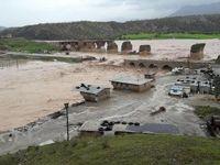 پل کشکان بر اثر سیل خراب شد +عکس