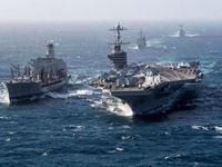 ورود ناوگروه ضربتی آمریکا به خلیج فارس