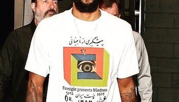 طرح تمبر ایرانی بر روی لباس ستاره بسکتبال آمریکا +عکس