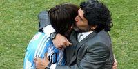 ادای احترام مسی به دیگو مارادونا