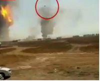 پرتاب تانکر به هوا در انفجار گمرک مرزی +فیلم