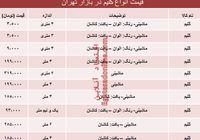قیمت انواع گلیم در بازار تهران؟ +جدول