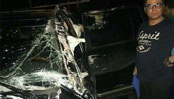 خودرو مهرداد میناوند بعد از تصادف +عکس