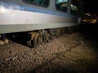 خروج قطار مسافربری زنجان -تهران از ریل +عکس