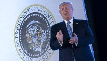 نمایش تصویر عجیب حین سخنرانی ترامپ جنجالی شد