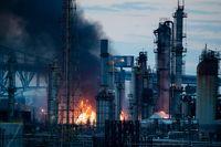 انفجار پالایشگاه نفت در فیلادلفیا +تصاویر
