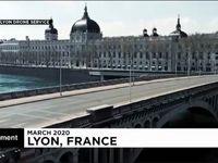 خیابانهای خالی شهر لیون فرانسه در روزهای کرونایی +فیلم