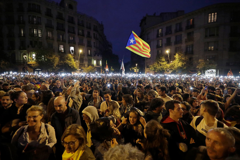 تظاهرات کاتالانها در اسپانیا