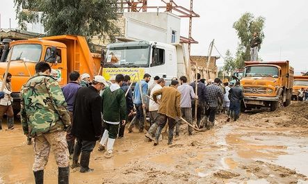 تجمع گروههای جهادی در حمایت از سپاه پلدختر
