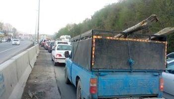 ممنوعیت آمد وشد انواع کشندههای سنگین در جاده هراز