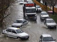 بارش باران و آبگرفتگی معابر همدان +عکس