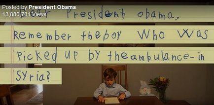 نامه کودک ۶ ساله نیویورکی به اوباما