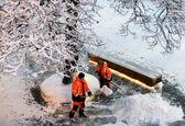 برفروبی پس از بارش سنگین برف در مسکو +تصاویر