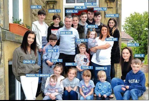 (عکس) یک خانواده انگلیسی با ۲۲ فرزند!