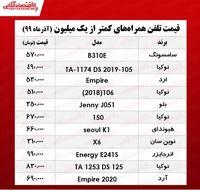 قیمت موبایل (محدوده ۱میلیون تومان)
