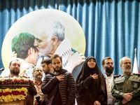 دختر و پسر سردار سلیمانی در یک مراسم +عکس