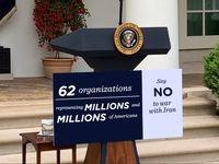 62سازمان مردمی خواستار مخالفت کنگره آمریکا با جنگ شدند