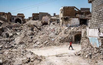 ویرانههای موصل پس از حمله داعش
