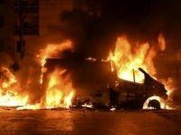انفجار خودرو در گرگان جان راننده را گرفت