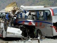 برخورد کامیون با اتوبوس در آزادراه آذربایجان شرقی