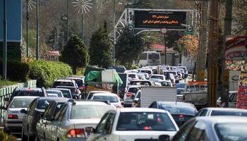 ترافیک نیمه سنگین در جاده چالوس