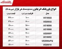 قیمت روز انواع پاوربانک انرجایزر در بازار +جدول