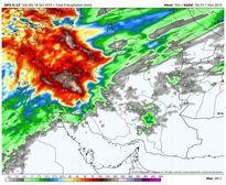 پیشبینی مجموع بارشها نیمه اول آبان98