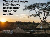 سقوط 90درصدی ارزش دستمزد در زیمباوه