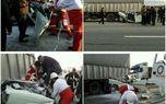 نصف شدن وانتپیکان در تصادف با کامیون +عکس