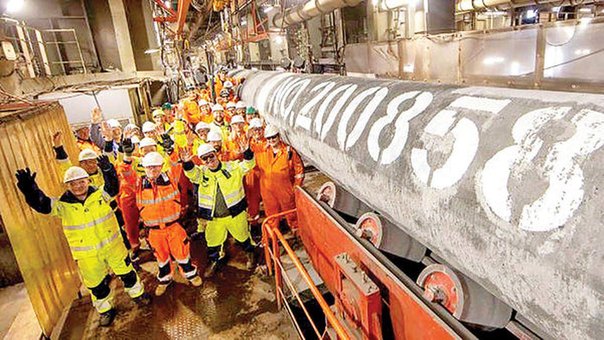 خط انتقال گاز نورداستریم۲ تکمیل شد