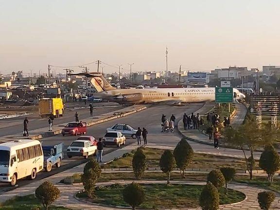 خروج هواپیما از باند فرودگاه در ماهشهر