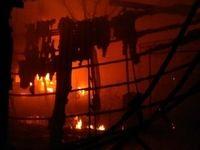 آتشسوزی در منطقه زاغهنشین بنگلادش +فیلم