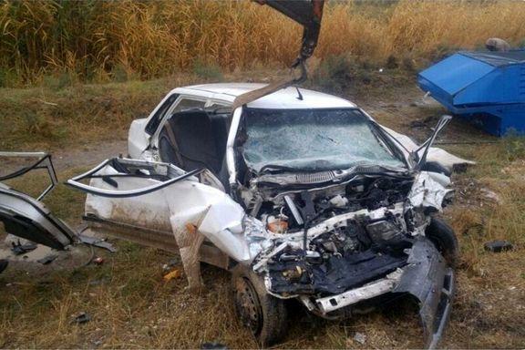 سانحه رانندگی سه کشته بر جا گذاشت