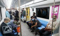 میزان رعایت پروتکلهای بهداشتی در مترو +تصاویر