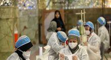 کارگاه تولید ماسک در حرم حضرت شاهچراغ (ع) +تصاویر