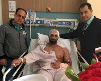 حادثه خطرناک برای قهرمان ایرانی +عکس