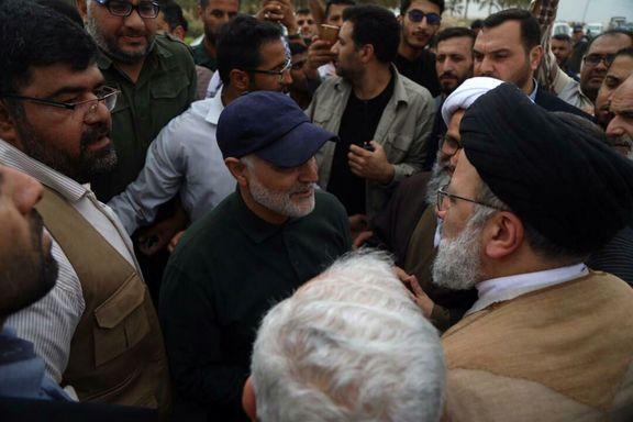 سردار سلیمانی و رئیسی در روستای شادگان +عکس