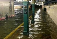وقوع سیل در مترو نیویورک به دنبال وقوع طوفان آیدا