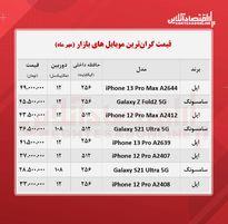 قیمت گران ترین گوشی های بازار / ۲۵مهر