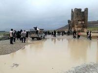 «تخت جمشید» بعد از فروکش کردن سیلاب +تصاویر