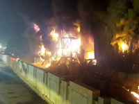 مهار آتشسوزی انبار کالا در جاده مخصوص