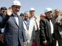 جهانگیری از پروژه آزادراه تهران-شمال بازدید کرد