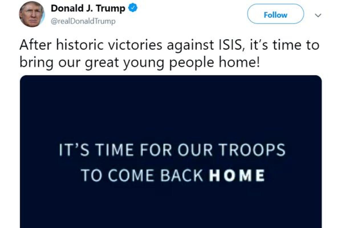 ترامپ: «قهرمانان جهان» وقت بازگشت به خانه است!