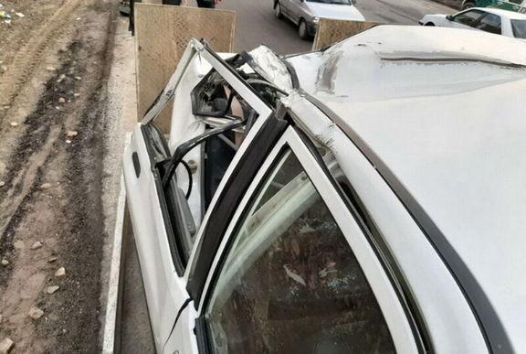 سقوط سنگ بر روی خودرو یک نفر را کشت +عکس
