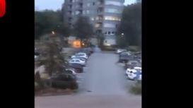 آتش زدن چندین خودرو در سوئد +فیلم