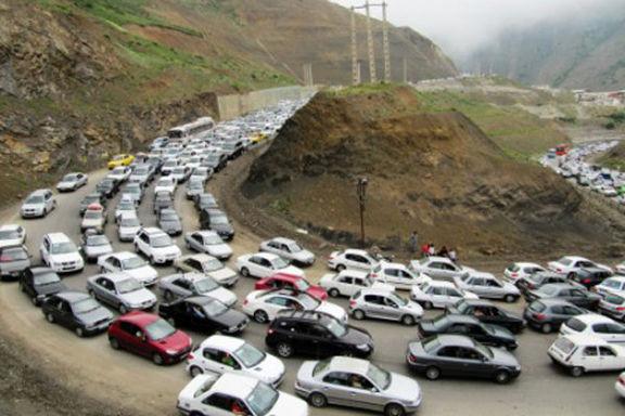 ترافیک سنگین در محورهای شمال-تهران