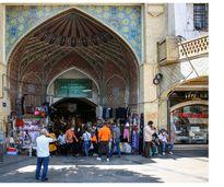 عدم رعایت پروتکل های بهداشتی در بازار تهران + عکس