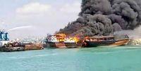 آتشسوزی لنجهای صیادی در جاسک